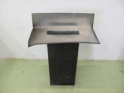 Zielsetzung Metall Blech Rechteck Notüberlauf Wasserspeier Aufkantung Dach 73x10x30cm