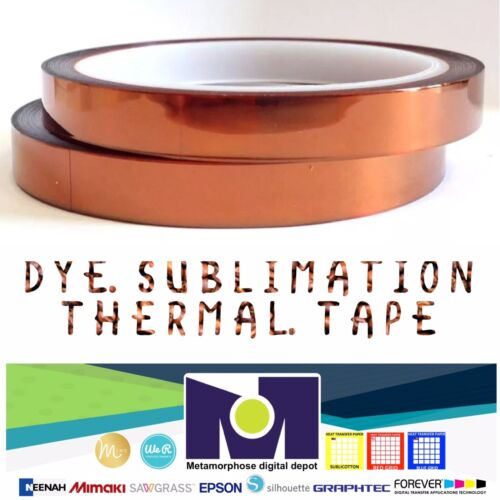 2rolls Heat resistant tapes sublimation Press Transfer Thermal Tape 10mm*30m