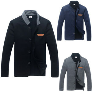 Fashion Men Casual Warm Slim Fit Jackets Coat Mens Winter ...