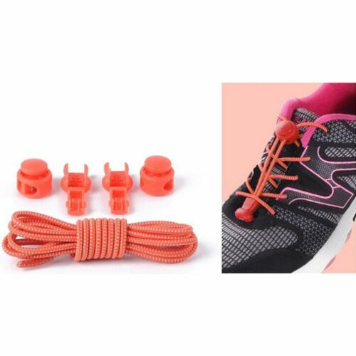 1Pair Elastic No Tie Shoelaces Sports Trainer Running Athletic Sneaks Shoe laces