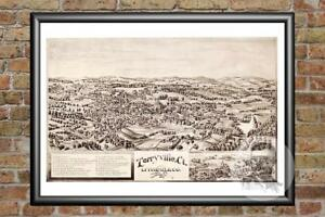Old-Map-of-Terryville-CT-from-1894-Vintage-Connecticut-Art-Historic-Decor