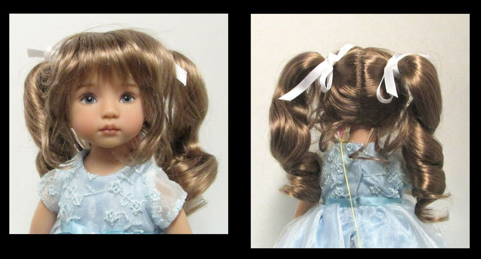 Monique Doll Wig  Darling  Size 10 11 - GINGER BROWN Synthetic Mohair NEW