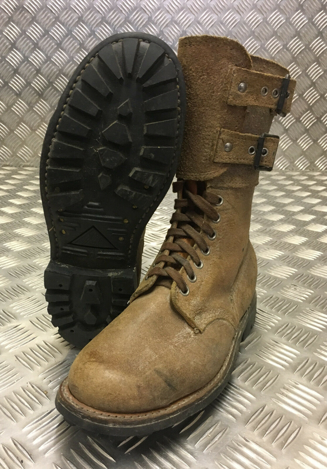 Genuine French Foreign Legion Brown Leather   Suede Army Boots Size 40 NEW FB301