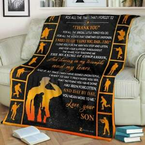 Veteran To My Mom Thank You For All Things You Do Fleece Blanket 50x60x80