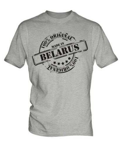 MADE IN BELARUS MENS T-SHIRT GIFT CHRISTMAS BIRTHDAY 18TH 30TH 40TH 50TH 60TH