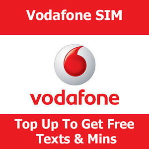 Details about Pay As You Go SIM Card On Vodafone For Apple iPhone Top Up  Get Free Texts & Mins