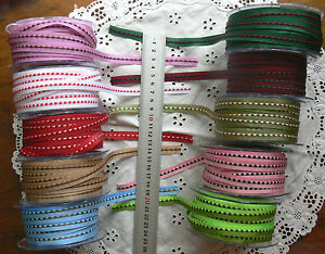 Solid-Nylon-Poly-EMBROIDERED-StitchWoven-10mm-5MetreLength-10Colour-Choice-ALD12