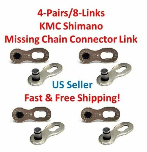 4-Pair//8-Link KMC Shimano Missing Chain Connector 10R Bike Bicycle 10 Speed NEW!