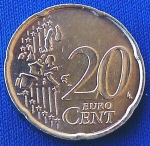 20 euro cent gold coin