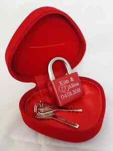 LUXUS Liebesschloss ROT Gravur Weihnachten Valentinstag Geburtstag LOVE Geschenk