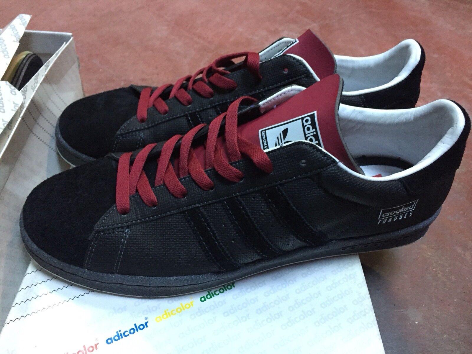 Adidas Century Low Black Adicolor 11,5 US 46 EU Crooked Tongues Tongues Crooked 972f1e