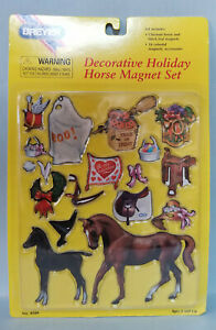 Breyer-4109-Holiday-Magnet-Set-with-Big-Ben-and-Proud-Arabian-Foal-Toy-NIP
