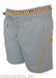 Kostuem-Bikkembergs-Boxer-Meer-Herren-zum-Schwimmen-grau-Mann-Shorts-Anzug-homme