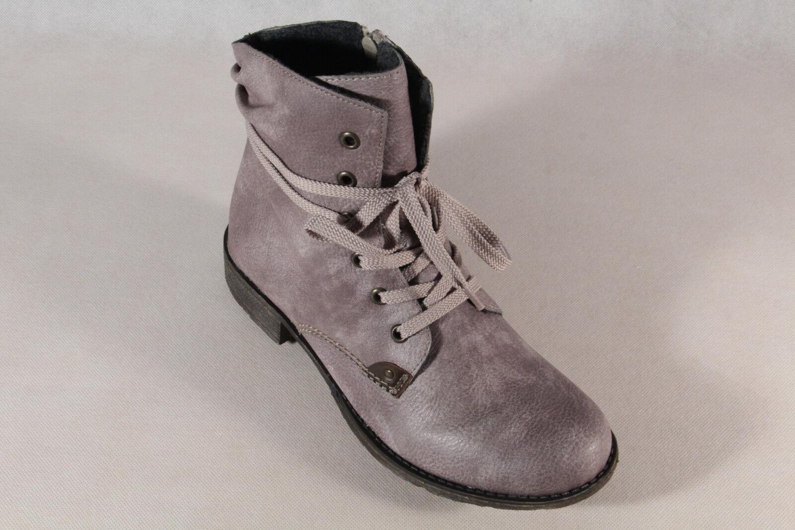 Rieker botas botas Mujer Botines botas botas de Cordón botas gris 70829 Nuevo d6da3f