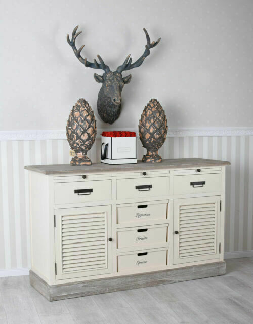 Sideboard Country House Style Buffet White Drawer Cabinet Vintage Dresser Shabby For Sale Online Ebay