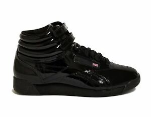 1d44770cded Reebok Women s FREESTYLE HI PATENT Casual Shoes Black CN2822 b