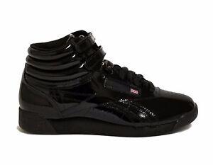 9841ade07ac Reebok Women s FREESTYLE HI PATENT Casual Shoes Black CN2822 b