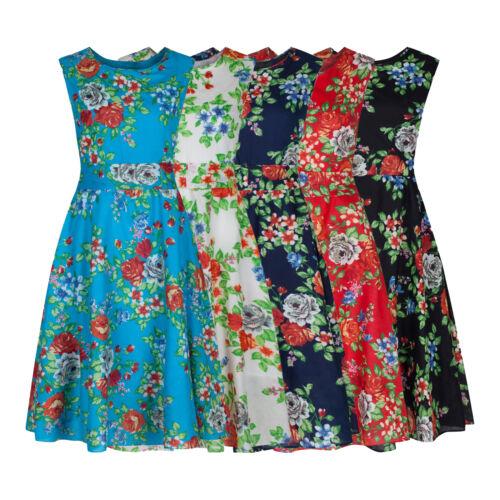 1940s Dresses   40s Dress, Swing Dress   Floral 1940s Vintage Retro Lightweight Cotton Tea Dress 5 Colours New 8 - 20 £24.99 AT vintagedancer.com