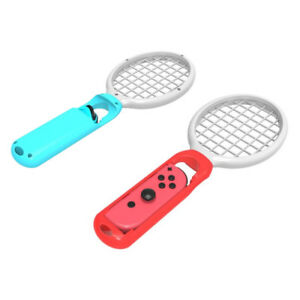 2x-Tennis-Racket-for-Nintendo-Switch-Joy-Con-Gaming-for-Ma-rio-Tennis-Aces-Game