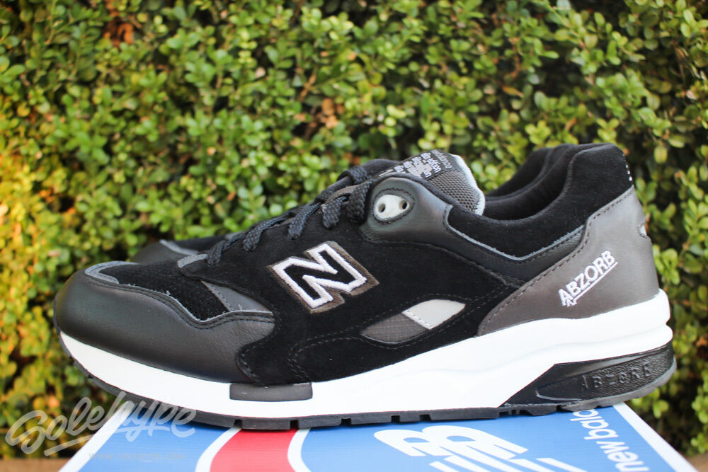 NEW BALANCE 1600 SOUND STAGE SZ 7.5 BLACK WHITE GREY CM1600GT
