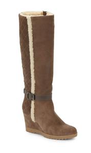 Aquatalia By Marvin K para mujer botas de gamuza de Alto Recortado ante gris Talle 12 3022