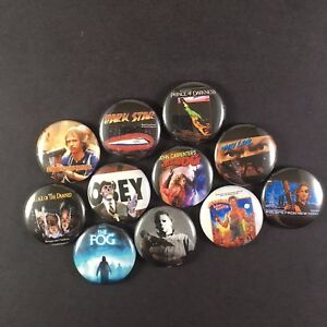 John-Carpenter-034-Button-Pin-Lot-Set-1-Halloween-The-Thing-The-Fog-They-Live
