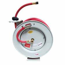 Retractable Airwater Hose Reel With 38 X 50 Feet Rubber Hose Hsr80 66