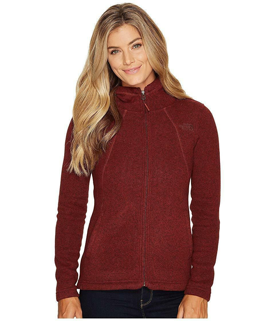 The North Face WoMen's Crescent Full Zip Hoodie - Barolo Red Heather - S
