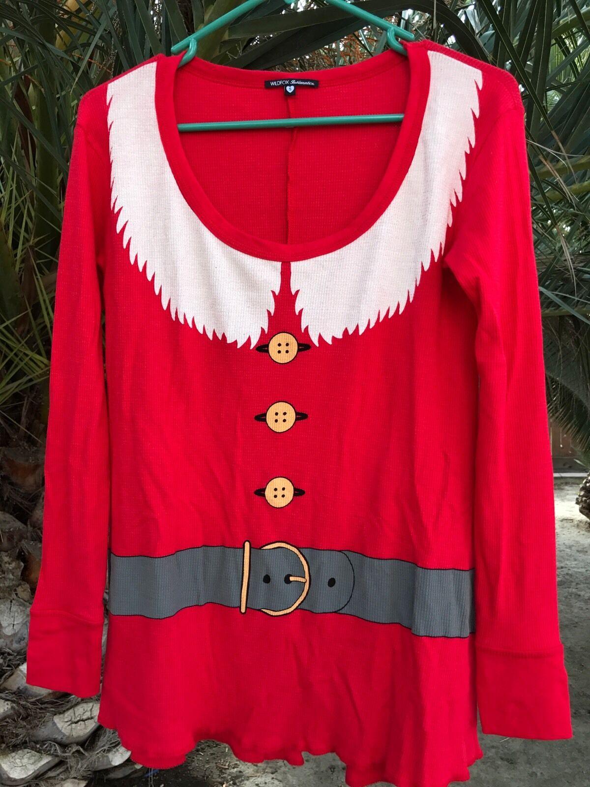Wildfox  Mrs. Clause  NWOT Long Sleeve Tee T shirt Christmas Santa Holiday