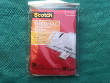 Pack 20 Scotch Thermal Laminating Pouches 2x 35 Business Card Wallet Size