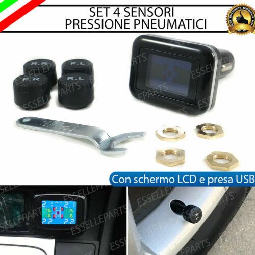 KIT SENSORI PRESSIONE PNEUMATICI RUOTE GOMME MAZDA RX-8 CON SCHERMO LCD