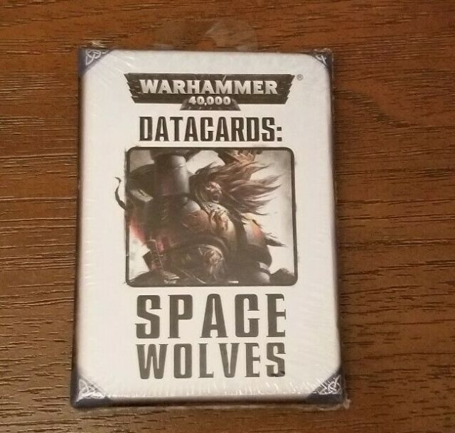 Warhammer 40k Space Wolves Datacards NIB
