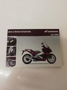 Libretto Manual Uso Manutenzione Maintenance Italiano Honda Nc 700