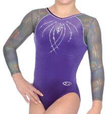 34742404f937 The Zone Fizz JEWEL Long Sleeve Velour Gymnastics Leotard - Girls ...