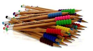 2 vorgespitzt Bleistiftset 50 Stück DKB Holzbleistifte mit Radiergummi HB Nr