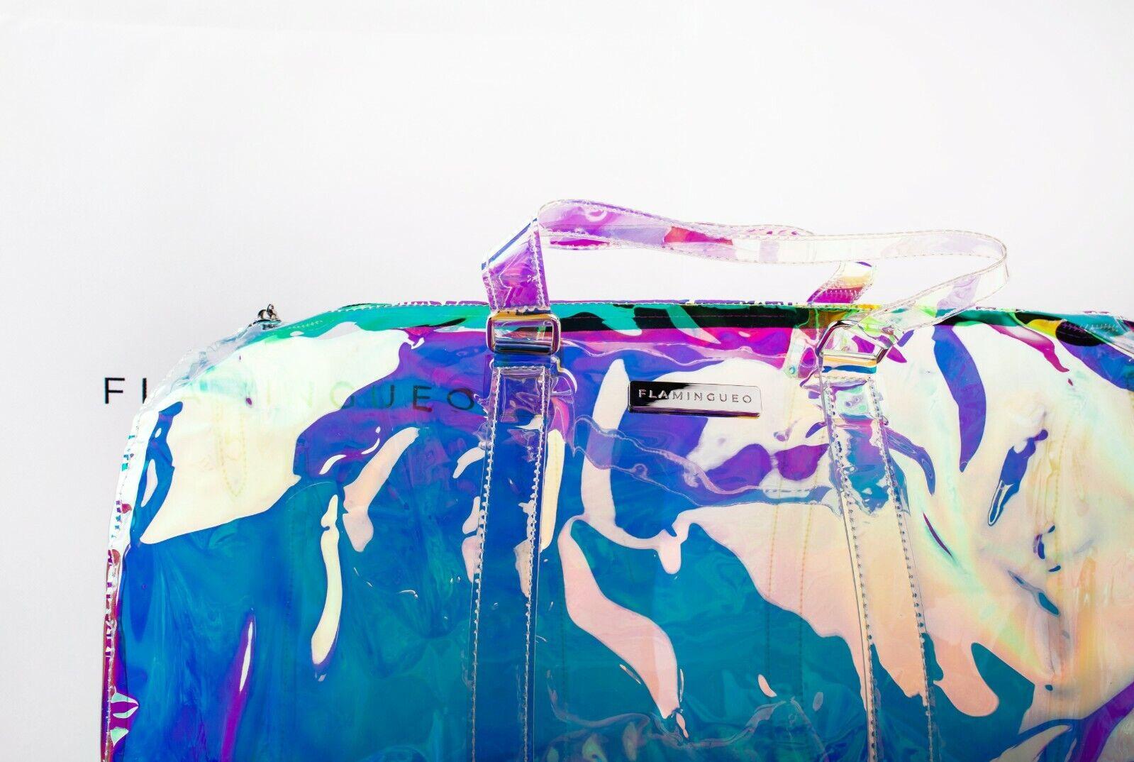 Flamingueo Bolso Transparente Deporte Diseño Holografico Bolsa de Viaje Casual