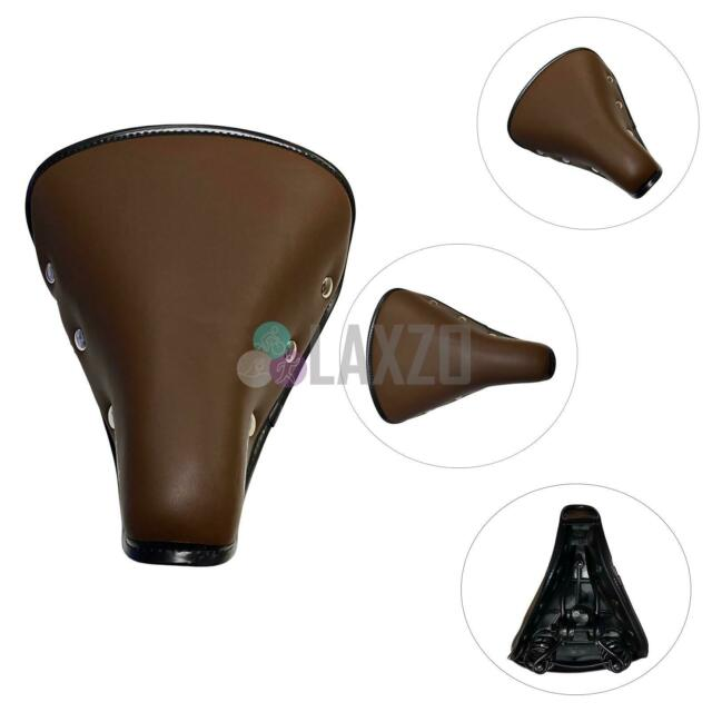 Vintage Bike Bicycle Cycle Saddle Seat Leather Wine Red Classic Sprung Spring
