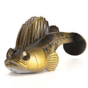 Minnow-Lure-kgm-Wurm-SwimBaitGenericName-Soft-Bass-Koeder-mit-Lead-Hook