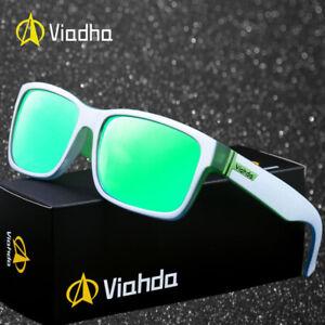 e4637749437e Image is loading VIAHDA-Men-Sport-Sunglasses-Outdoor-Driving-Fishing-Square-