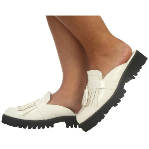 LADIES WOMENS TASSEL FASHION SLIP ON SUMMER CASUAL SMART CLEATED SOLE SHOES