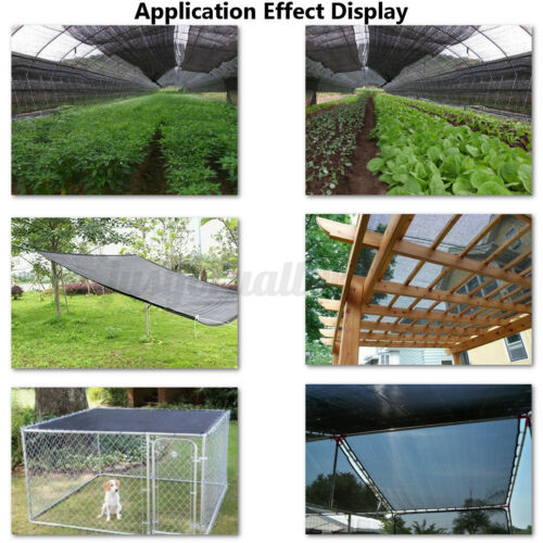 13X16.4ft 40/% UV Sunblock Shade Cloth Cover Garden Plant Greenhouse Outdoo