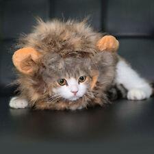 Pet Dog Cat Lion Wigs Mane Hair Festival Party Fancy Costume