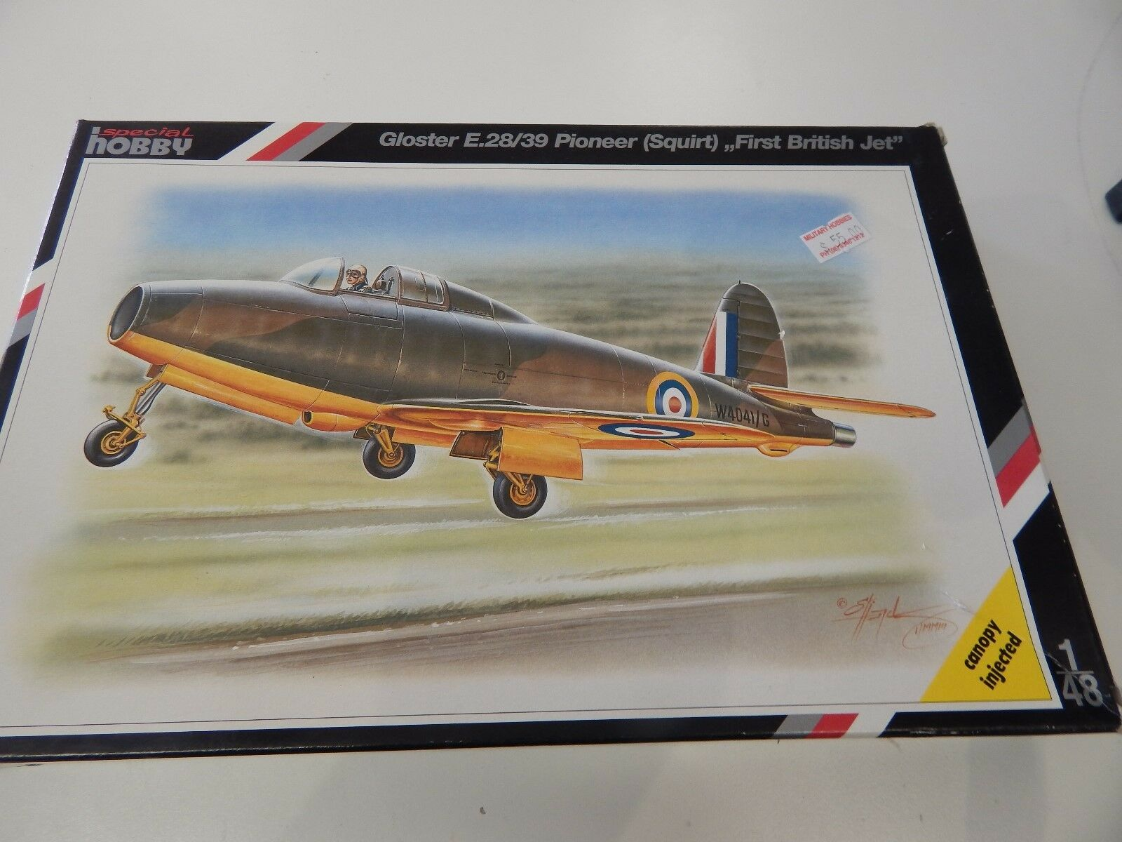 Specail Hobby  plastic model 1 48 scale Gloster 'Squirt' first British jet
