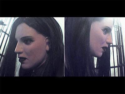 Maschera In Lattice Dark Lady + Ciglia-real. Femminile Di Donna Stretta Punto Di Vista Trans Emo Gothic-mostra Il Titolo Originale