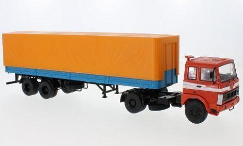 PREMIUM CLASSIXXS MAZ 5432 semitrailer MAZ 93971 red blue 1:43 47050