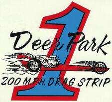 DEER PARK 200 MPH DRAG STRIP Racing DECALS 1950-70s N.of Spokane WA + DRAG FLYER