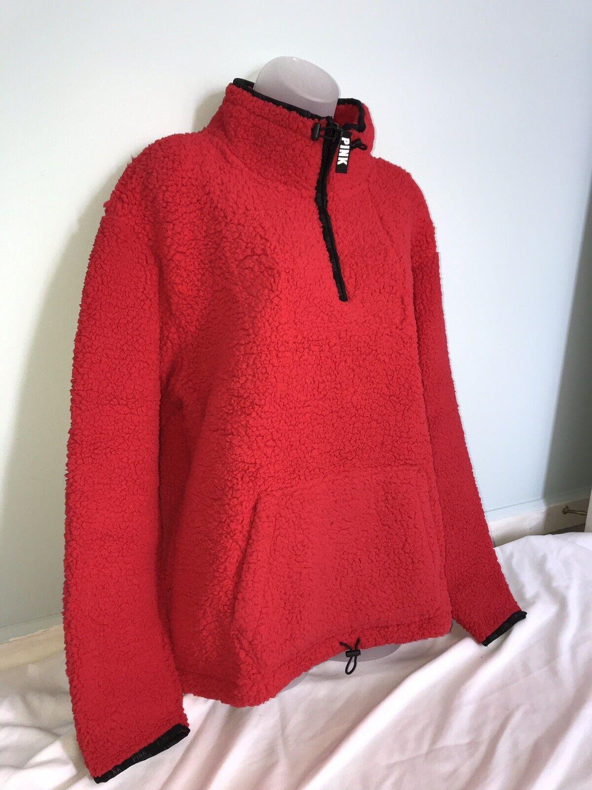 688553f035 Red Zip Sherpa Pink Secret Victoria's NWT Pepper Quater L ...