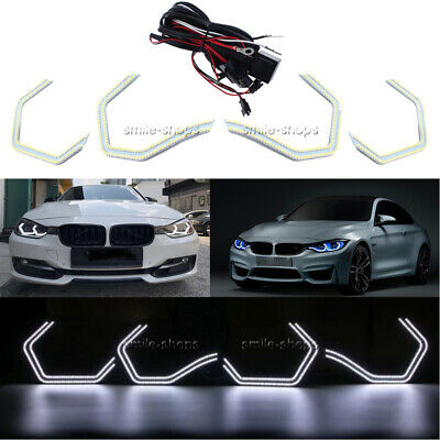 HALO RINGS ANGEL EYES fit BMW E87 1 SERIES SMD LED 6000K UPGRADE COMPLETE SET
