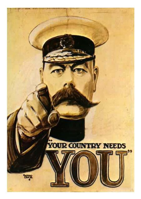 A4 and A3 High Quality Kitchener WW1 WW2 Poster - Your Country Needs You