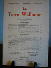 LA TERRE WALLONNE  TOME XXII - N° 132 ONZIEME ANNEE SEPTEMBRE 1930